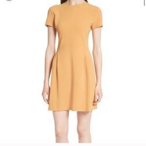 Theory mustard yellow corset admiral crepe dress